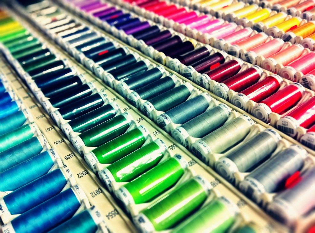 sewing, thread, colourful